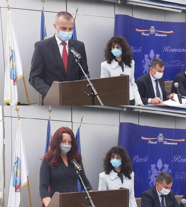 Noii consilieri locali, avocatul Răzvan Toma Stănciulescu şi Cristina Toma Cochinescu au depus jurământul de investitură