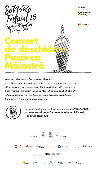 """Festivalul SoNoRo XV """"Pasărea Măiastră"""" începe online"""