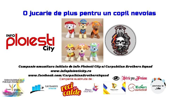 """Campanie umanitara pentru copiii nevoiasi din judetul Prahova . """" O jucărie de plus pentru un copil nevoiaş"""""""