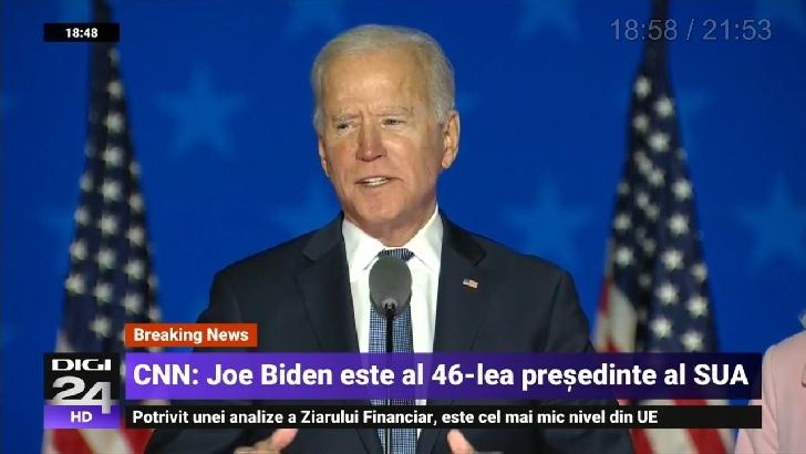 Joe Biden a fost ales  preşedinte al Statelor Unite
