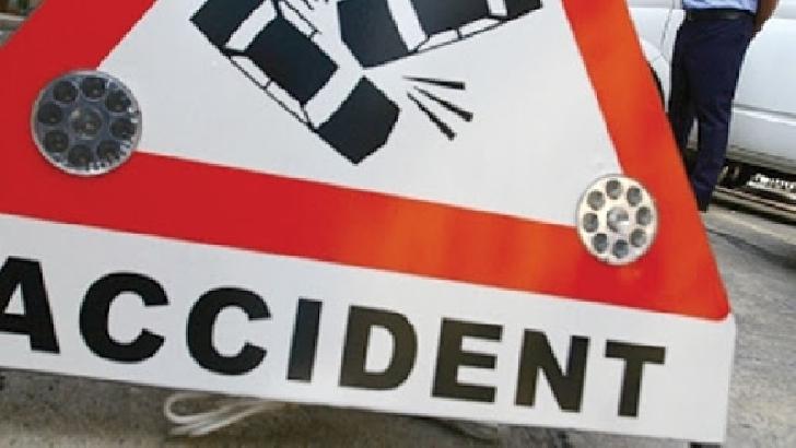 Accident rutier pe DN 1 ,la Posada.Doua autoturisme au intrat in coliziune
