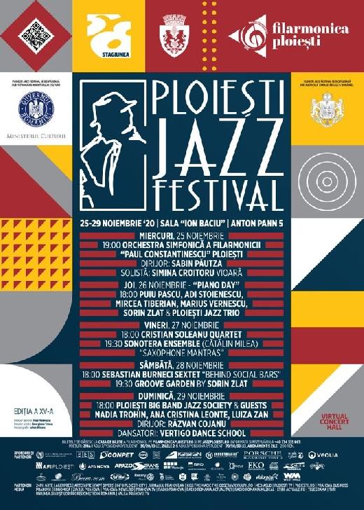 Incepe  cea de XV a editie a  Ploieşti Jazz Festival 2020.Programul evenimentului