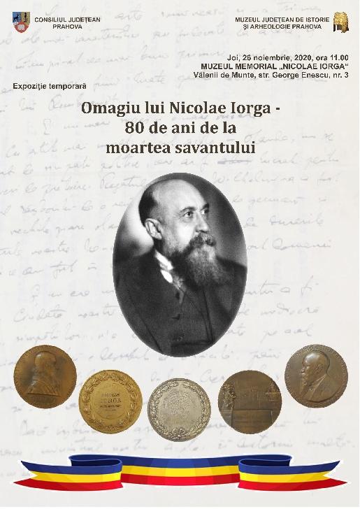 Omagiu adus lui Nicolae Iorga,la 80 de ani de la moartea acestuia