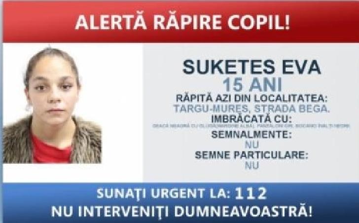 ALERTA RAPIRE COPIL.O minora  din Odorheiul Secuiesc este data disparuta.APELUL POLITIEI