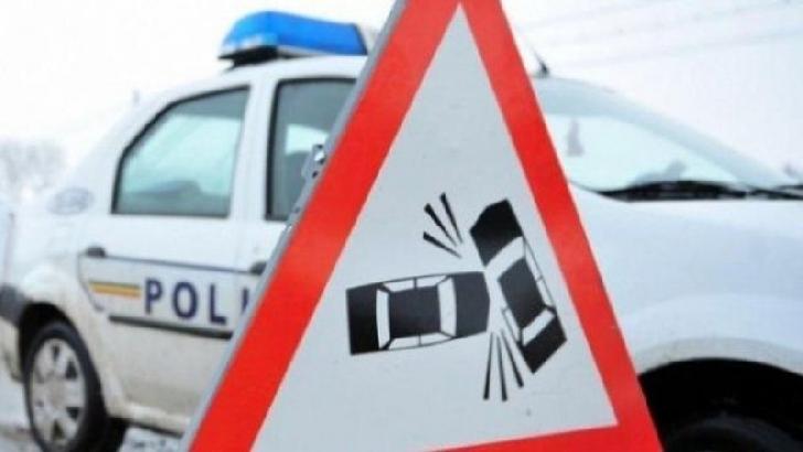 Accident rutier la Albeşti. Trei autovehicule au intrat în coliziune