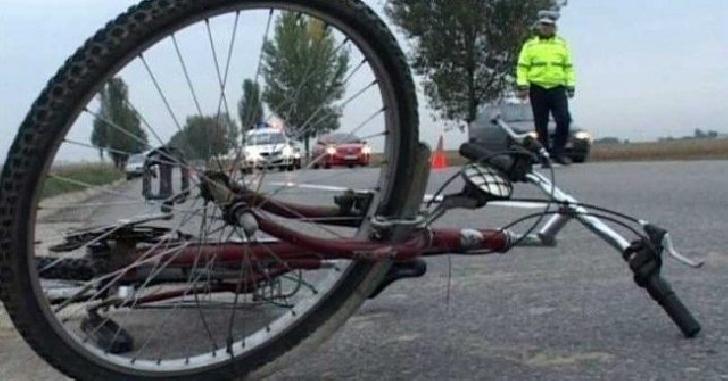Accident rutier la Ditesti. Un biciclist a fost lovit de un autoturism
