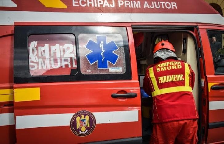 Un autoturism s-a răsturnat în satul Negoieşti, comuna Brazi