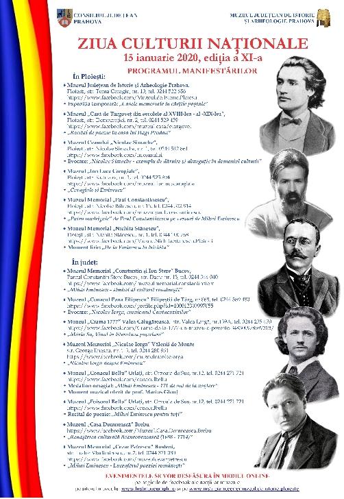 Evenimente dedicate celei de-a XI-a ediţii a Zilei Culturii Naţionale , la muzeele din Prahova