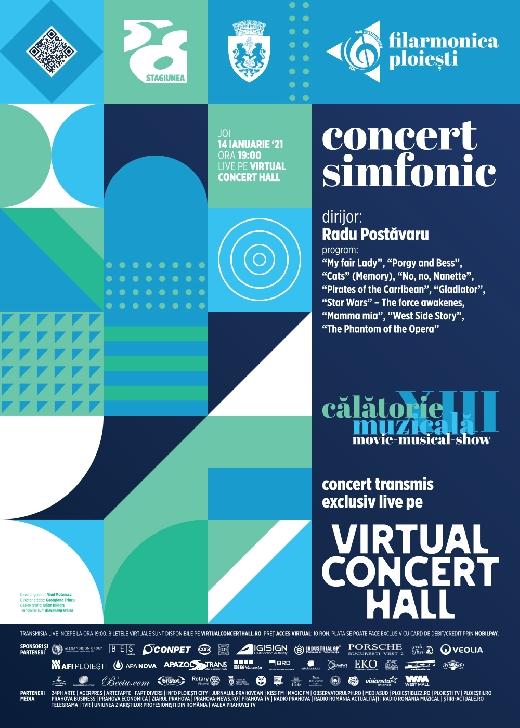 """Filarmonica """"Paul Constantinescu """" Ploiesti. Concert simfonic ,14 ianuarie 2021 . """"Movie-Musical-Show"""""""