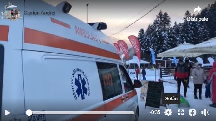Incident uluitor pe pârtia Kalinderu din Buşteni. O ambulanţă a fost atacată de turişti (video)