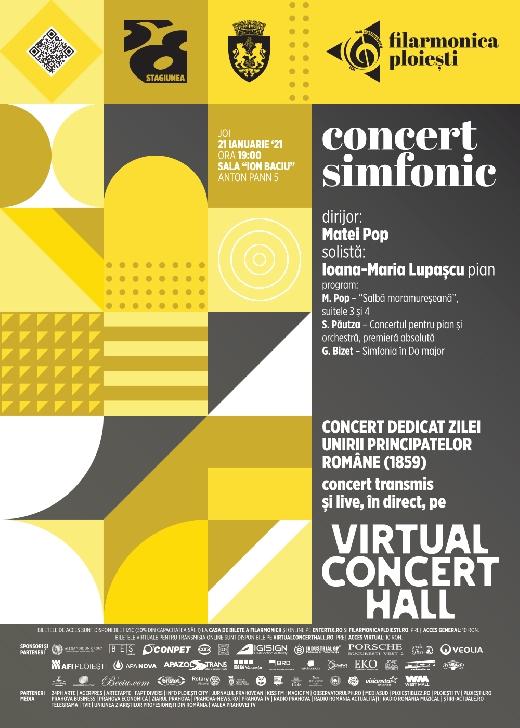 """Concert dedicat Unirii Principatelor Române , la Filarmonica """"Paul Constantinescu """" Ploiesti"""