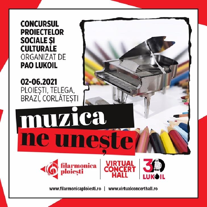"""Muzica ne uneşte"""" ,proiectului iniţiat de Filarmonica """"Paul Constantinescu""""  a fost desemnat  castigator la Concursul Proiectelor Sociale si Culturale ale PAO LuKoil în România"""