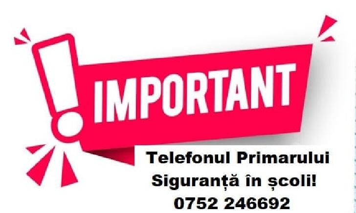 Primaria Municipiului Ploiesti a pus in functiune  un număr de telefon – Telefonul primarului – Siguranţă în şcoli!