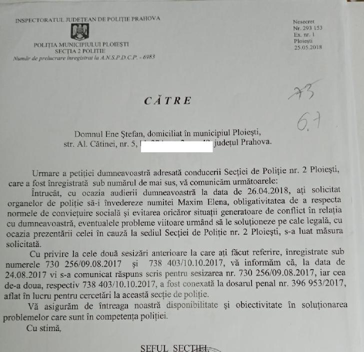 Drept la replică solicitat de fostul Preşedinte al Asociaţiei de locatari, bloc 27 A Ploieşti