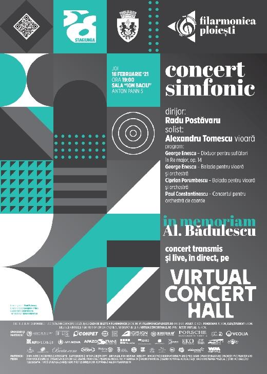 """Concert simfonic In Memoriam Alexandru Bădulescu la Filarmonica """"Paul Constantinescu"""" Ploiesti"""