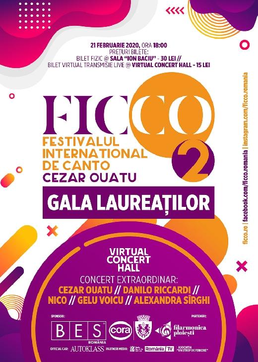 """In weekend ,la Filarmonica """"Paul Constantinescu"""" Ploiesti va avea loc Festivalul Internaţional de Canto Cezar Ouatu"""