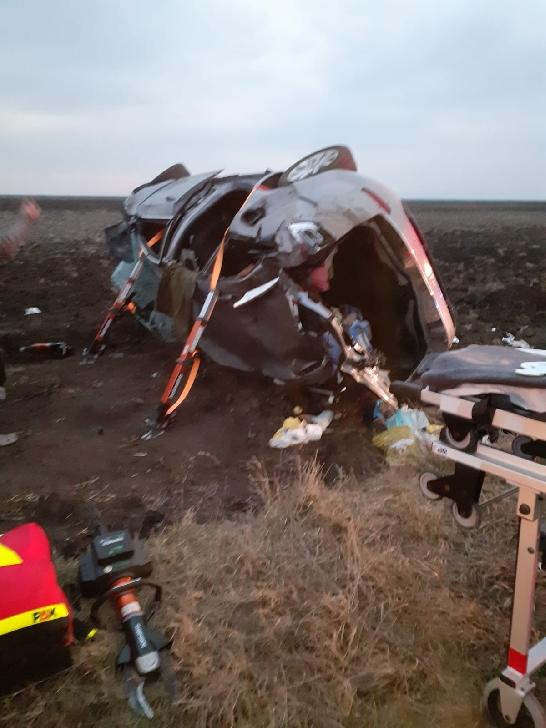 Accident rutier grav între Fulga şi Mizil. 4 persoane au fost transportate la spital