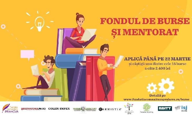 """Fundaţia Comunitară Prahova lansează astăzi, 22 februarie 2021, """"Fondul de Burse şi Mentorat"""""""