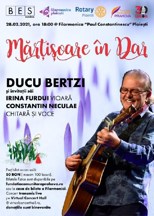 """Concert Caritabil – """"Mărţişoare în dar""""  la Filarmonica """"Paul Constantinescu """" Ploiesti"""
