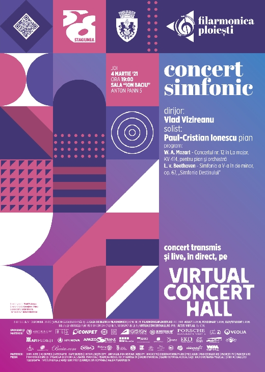 """Concert simfonic pentru pian şi orchestră de Wolfgang Amadeus Mozart,la Filarmonica """"Paul Constantinescu"""" Ploiesti"""