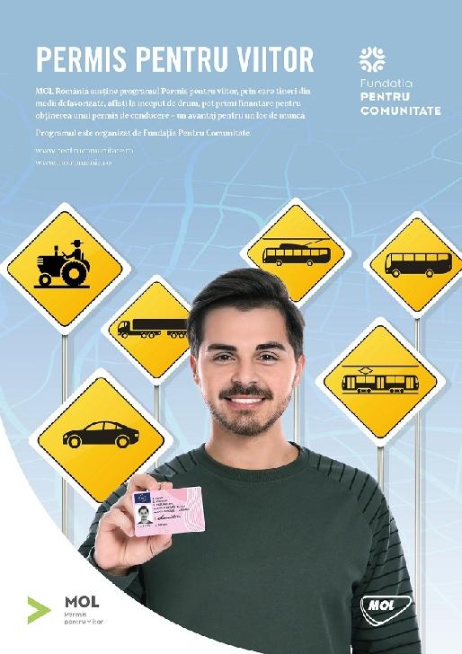 MOL România ajută financiar 36 de tineri din medii defavorizate pentru obţinerea permisului de conducere