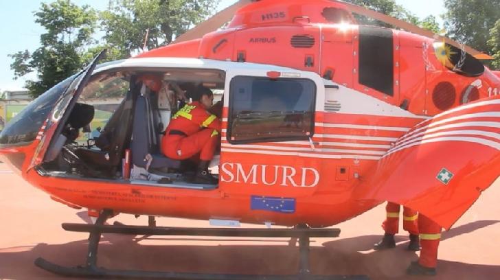 Prahova.Un bărbat a fost rănit grav după explozia unei butelii. Acesta a fost transportat la spital cu un elicopter Smurd