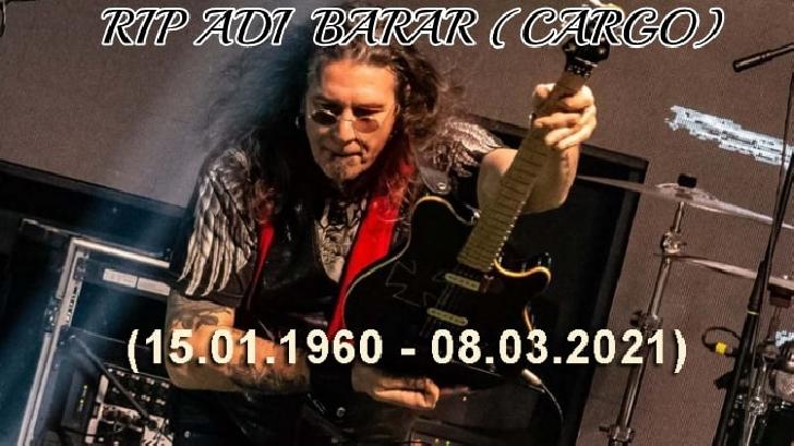 Liderul trupei Cargo, Adi Barar, a fost condus pe ultimul drum.În memoriam. Drum lin printre stele
