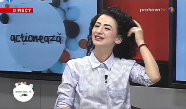 """Iza Lişiţă ,instructor dans modern la CS IZA DANCE SPORT a fost invitată la"""" Generaţia lui John"""" (video)"""