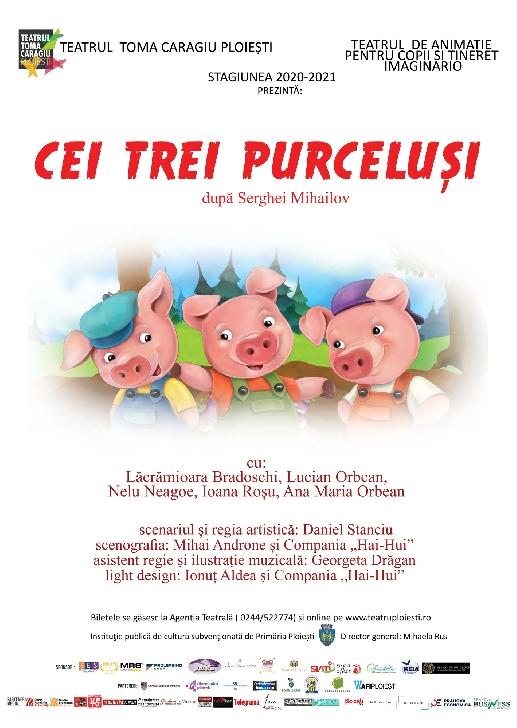 """Teatrul """"Toma Caragiu"""" Ploiesti.Program spectacole  15-21 martie 2021"""