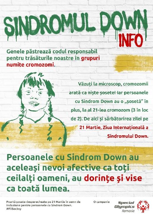 De Ziua Internaţională a Sindromului Down, Special Olympics România vă provoacă să purtaţi ŞoseteDesperecheate şi să premiaţi Campionii