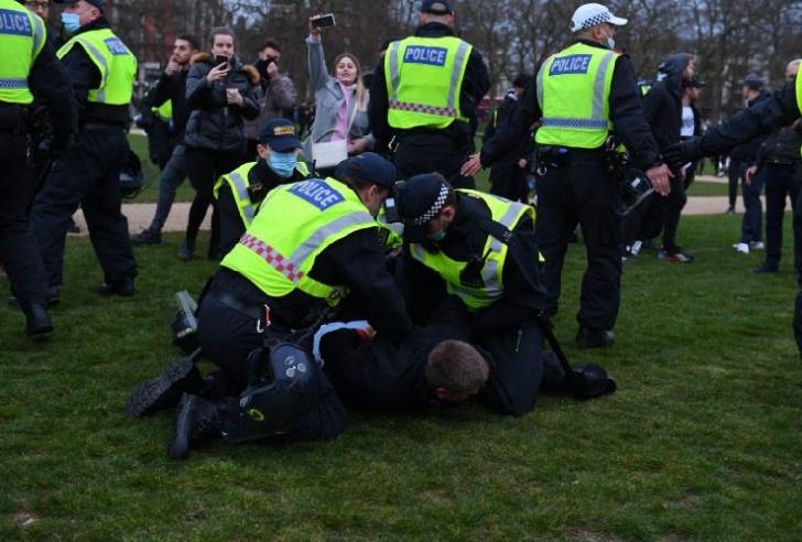 Arestări la mitingul anti-lockdown de sâmbătă,din Londra
