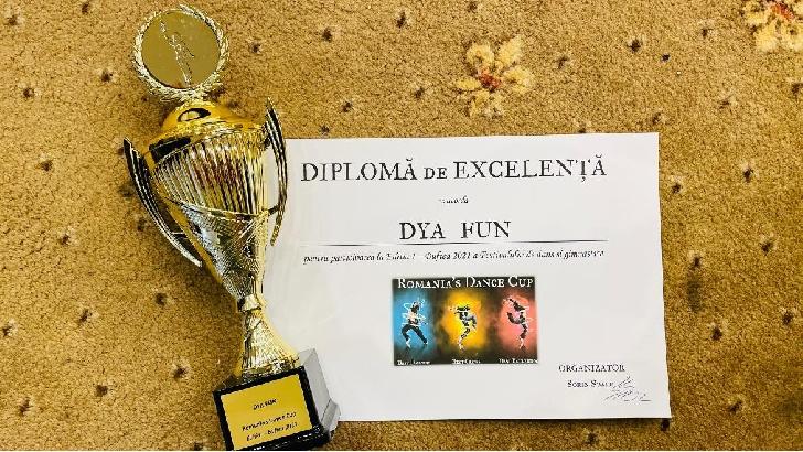 Şcoala de teatru şi dans DYA FUN  Ploieşti, 3 premii la Festivalul de dans şi gimnastică Romania Dance Cup