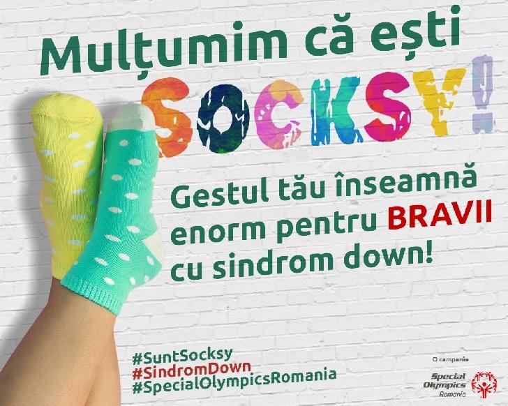 Peste 10.000 de persoane au fost Socksy De Ziua Internaţională a Sindromului Down