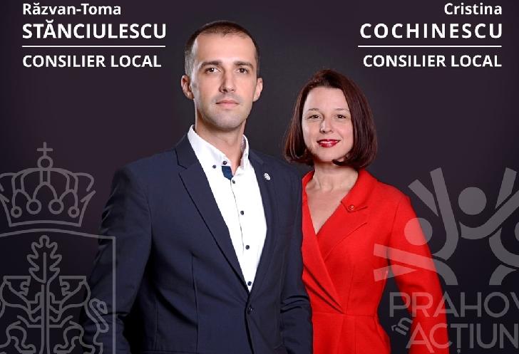 Consilierii locali,Cristina COCHINESCU şi Razvan STĂNCIULESCU si-au depus rapoartele de activitatea,in format electronic,la Primaria Ploieşti