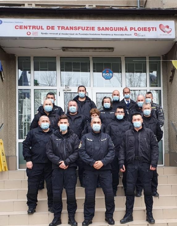 Poliţiştii prahoveni din cadrul Serviciul pentru Acţiuni Speciale au donat sânge şi plasmă