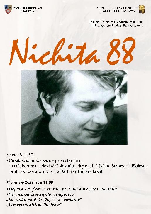 Activităţi dedicate aniversării a 88 de ani de la naşterea poetului Nichita Stănescu