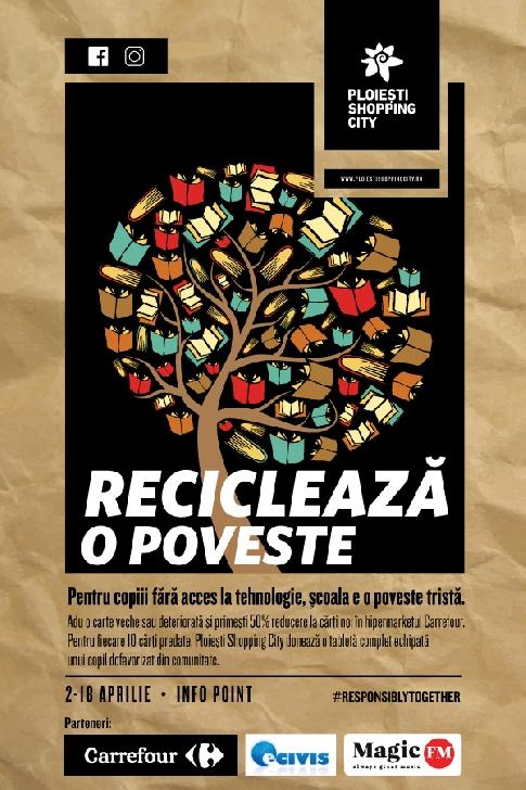 Cărţile donate devin tablete pentru elevii fără acces la educaţie din Prahova, prin programul RECICLEAZĂ O POVESTE