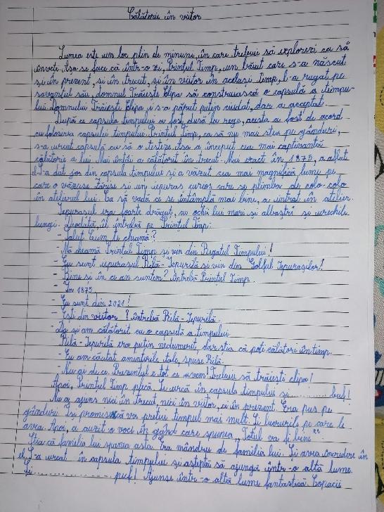 Antonia Maria Poamă, la 9 ani scrie zeci de compuneri si poezii