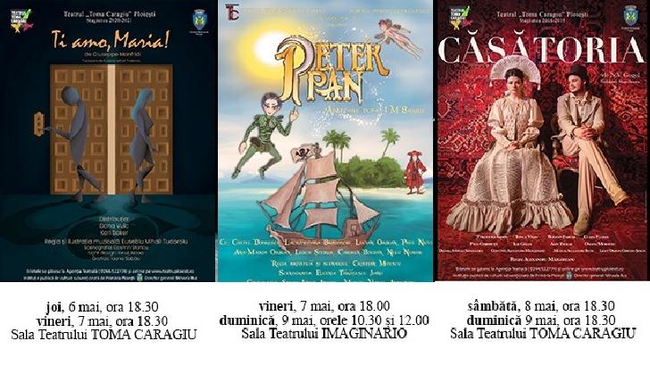 """Publicul este asteptat la Teatrul """"Toma Caragiu """" Ploiesti . Programul spectacolelor de saptamana aceasta"""