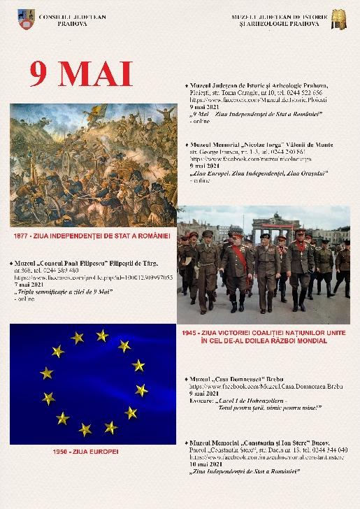 Evenimente culturale menite să celebreze tripla semnificaţie a zilei de 9 MAI, la muzeele din Prahova