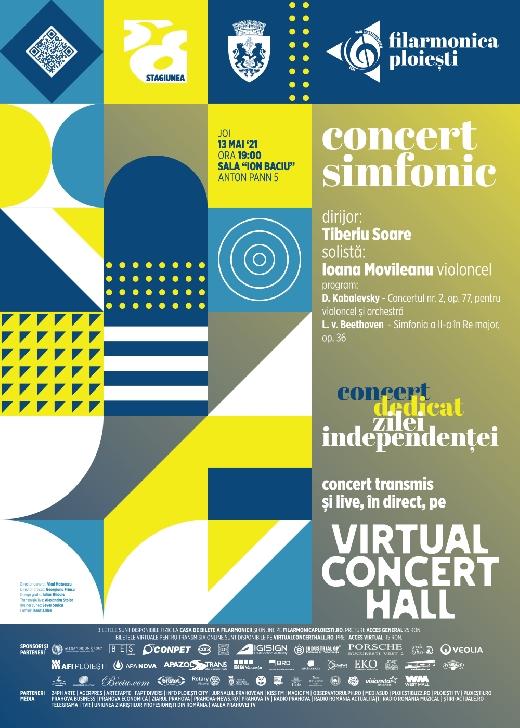 """Concert simfonic dedicat Zilei Independentei, la Filarmonica """"Paul Constantinescu"""" Ploiesti"""