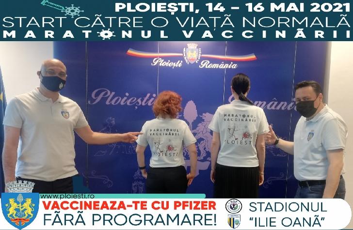 """Maraton de vaccinare anti-Covid-19,  pe  stadionul """"Ilie Oana"""" Ploiesti"""