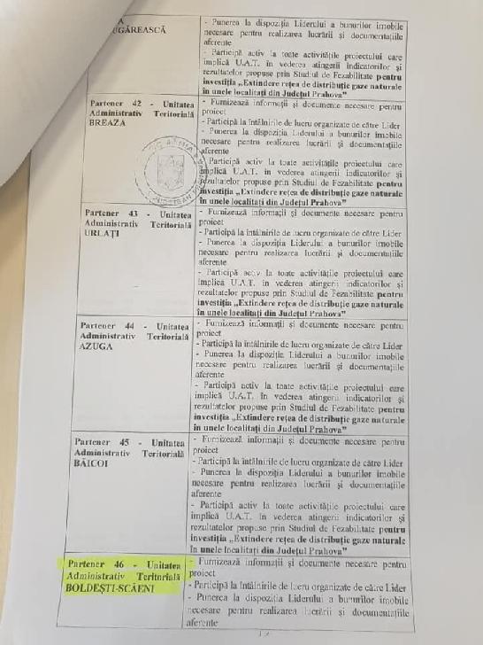 Consiliului Local Boldeşti-Scăeni, Consiliul Judetean Prahova si unele primarii  au aprobat un acord  în vederea extinderii reţelei de distribuţie gaze naturale în unele localităţi din judeţ