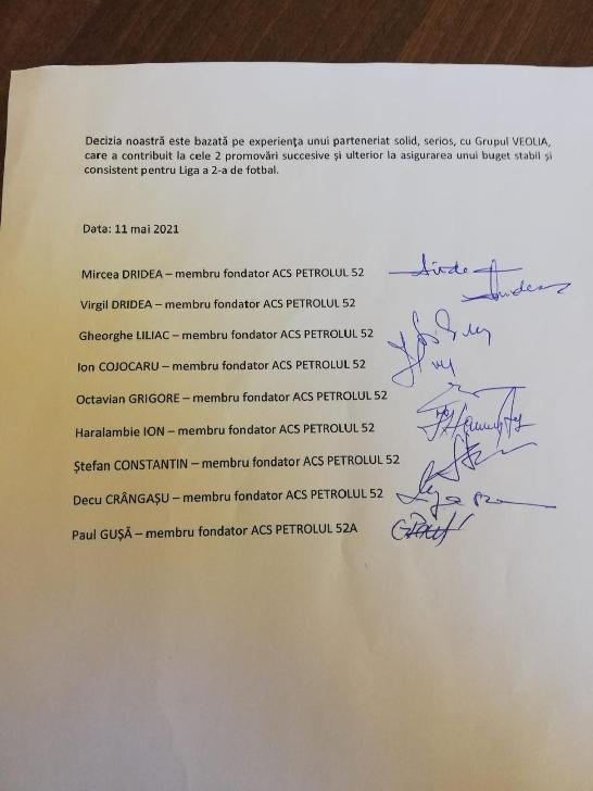 Membrii fondatori ai Petrolului Ploieşti  refuză orice asociere cu zona politică
