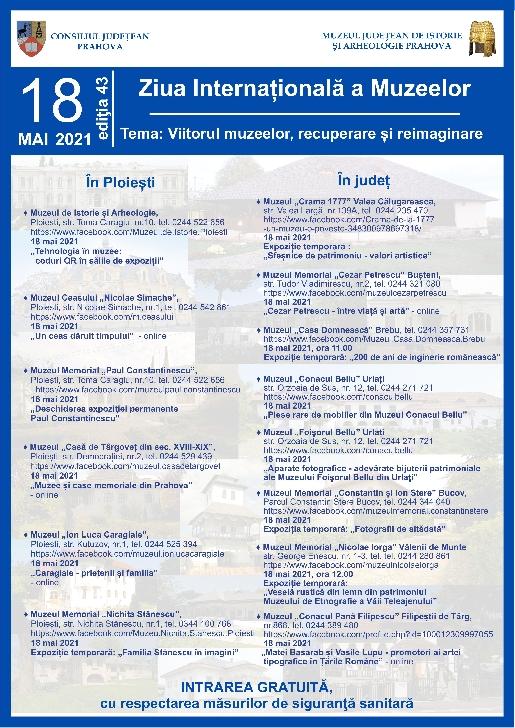 Ziua Internaţionala a Muzeelor, sărbătorită în Prahova
