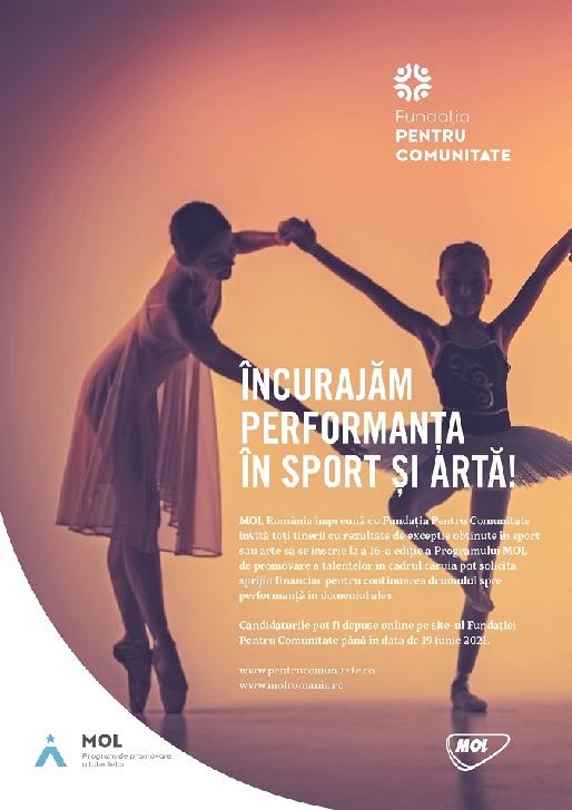 Programul MOL de promovare a talentelor adresat sportivilor şi artiştilor cu rezultate deosebite dă startul înscrierilor pentru ediţia 2021