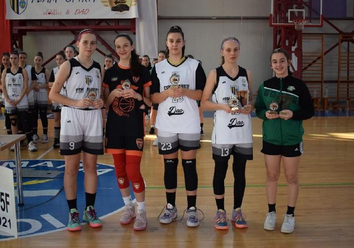 """Echipa de baschet fete """"U15"""" a CSM Ploieşti este vicecampioană naţională"""
