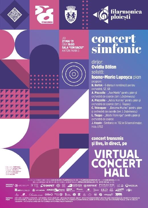 """Concert simfonic la Filarmonica """"Paul Constantinescu"""" Ploiesti. 27 mai 2021"""