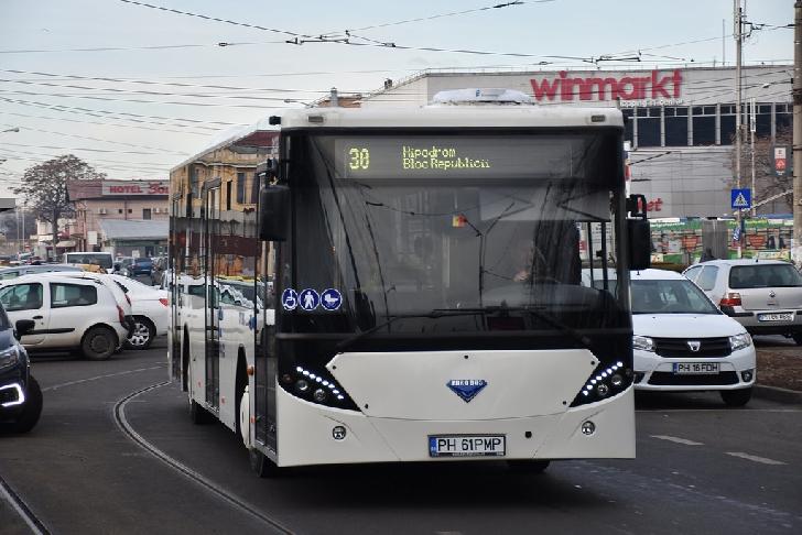 Ploiesti. Transportul local in comun se reorganizează, pe traseul Statuia Vânătorilor (Gara de Sud) – Rond Conpet