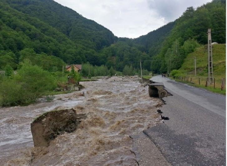 Efecte ale ploilor abundente din Prahova, în ultimele 24 ore